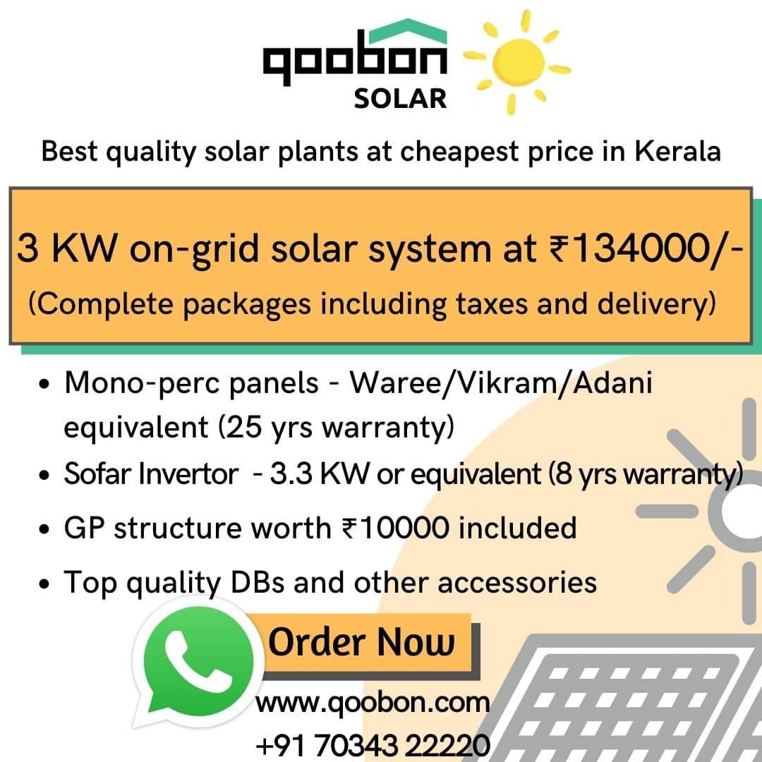 3 KW Solar panel